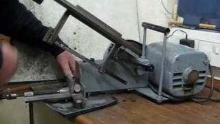 getlinkyoutube.com-Home Built Compact Benchtop Power Hacksaw Cutting Steel