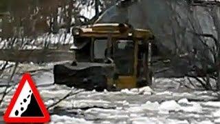 getlinkyoutube.com-Безджорожье. Трактор Т10МБ болотоходец - нереальная силище