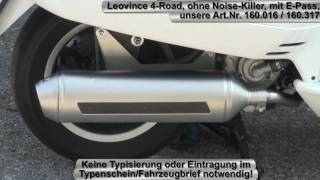 getlinkyoutube.com-Rennauspuff Leovince 4-Road, ohne Noise Killer