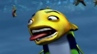 getlinkyoutube.com-Shark Tale All Fail Cutscenes | Game Over | Deaths (PS2)