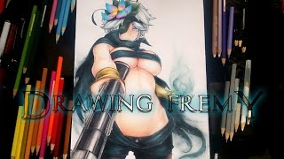 getlinkyoutube.com-Drawing Rokka no Yuusha Fremy (Flamie)