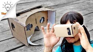 getlinkyoutube.com-[DIY] How to make VR Headset Google Cardboard | Thaitrick