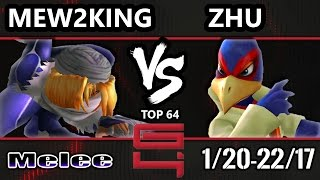 Genesis 4 SSBM - FOX MVG Mew2king (Sheik) Vs. boxr | Zhu (Falco) Smash Melee Winners Ro32