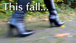 "getlinkyoutube.com-""Winter is coming!"" - Black High Heeled Boots For October"