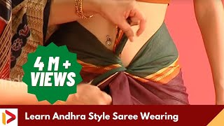 getlinkyoutube.com-How to Wear A Saree - Andhra Saree Wearing Tutorial | India Video
