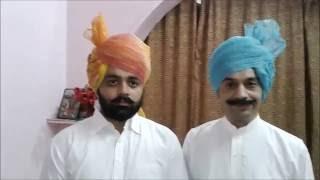 getlinkyoutube.com-How to Tie / wrap / wear a Rajasthani / jaipuri / jodhpuri / Rajputi Safa / Turban / Pagdi.