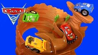 getlinkyoutube.com-NEW CARS Rip-A-Round Ridge Riplash Racers Willy's Butte Playset DisneyPixarCars Track Set