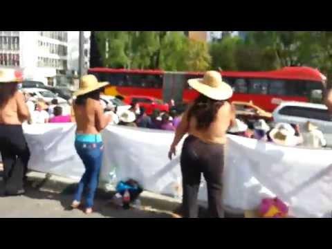 Manifestación de Los 400 pueblos en Insurgentes y Reforma