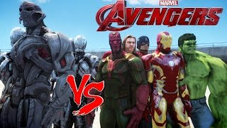 getlinkyoutube.com-THE AVENGERS VS ULTRON - EPIC BATTLE