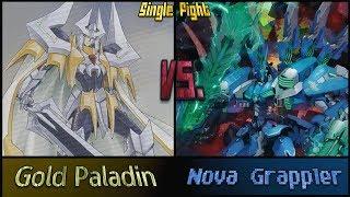 getlinkyoutube.com-Cardfight!! Vanguard: Gold Paladins (Liberators) Vs Nova Grappler (Galaxy Blau)