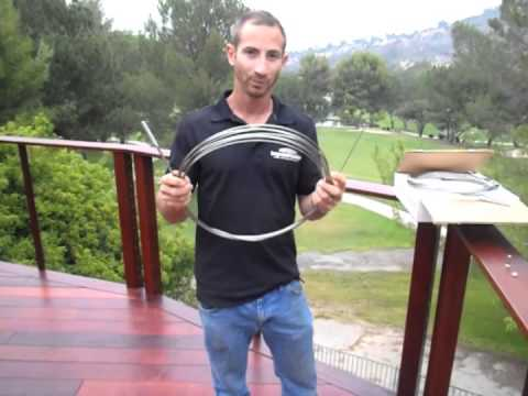 Mangaris deck with cable railing how-to part 2