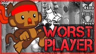 getlinkyoutube.com-Bloons TD Battles - WORST PLAYER EVER VS 2ND BEST PLAYER IN THE WORLD ON Bloons TD Battles
