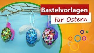 getlinkyoutube.com-♥ Bastelvorlagen für Ostern ✂ Ostereier mit Pailletten verzieren - trendmarkt24