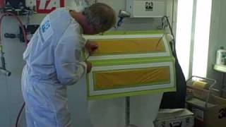 getlinkyoutube.com-Charley Hutton from Overhaulin' and PPG Demonstrates How To Use Waterborne Paint To Woodgrain