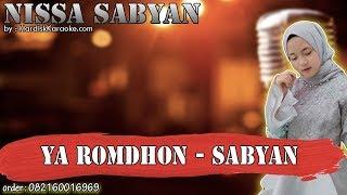 YA ROMDHON - SABYAN karaoke tanpa vokal | KARAOKE NISSA SABYAN