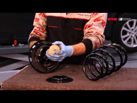 Toyota Prius III, Toyota Verso - FRONT - Передние амортизаторы KYB установка
