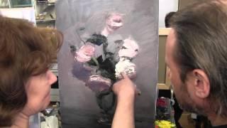 Научиться рисовать букет белых роз, Игорь Сахаров, живопись для начинающих, уроки рисования