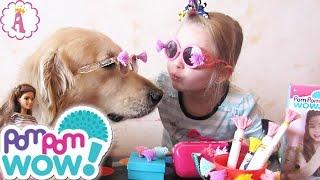 getlinkyoutube.com-Pom Pom Wow! наборы для творчества девочкам помпоны обзор Алиса и Граф распаковка игрушек украшения