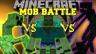 getlinkyoutube.com-MUTANT ENDERMAN VS MUTANT CREEPER VS MUTANT ZOMBIE - Minecraft Mob Battles - Mutant Creatures Mod