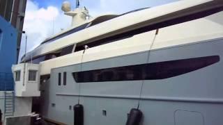 getlinkyoutube.com-Super Yacht Azteca Crashes into bridge attempting to squeeze through. - Via: Stoolie.tv