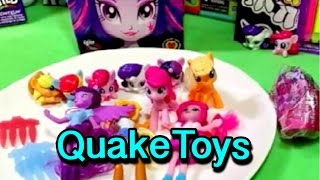 getlinkyoutube.com-2015 McDonald's My Little Pony Equestria Girls Plus Cameos Blind Bags Pinkie Pie Twilight Applejack!