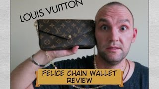 getlinkyoutube.com-Louis Vuitton - FELICIE Chain Wallet Unboxing and Review