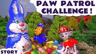Paw Patrol Surprise Egg Challenge with Thomas The Tank Engine Easter Bunny and Kinder Eggs TT4U