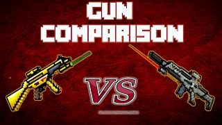 getlinkyoutube.com-Pixel Gun 3D - Golden Friend vs. Secret Forces Rifle