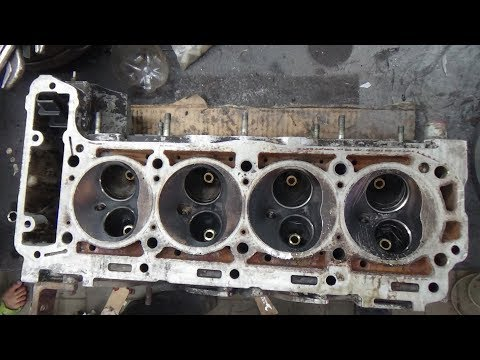 Ремонт двигателя Мерседес W124,М 102 2,3,замена направляющих втулок клапанов.