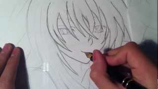 getlinkyoutube.com-How To Draw/Como dibujar a Rias Gremory(High School DxD) HD