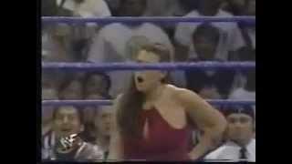 Kurt Angle kisses Stephanie McMahon