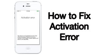 getlinkyoutube.com-Activation Error Fix - iPhone, iPod, iPad - 10/6/2013