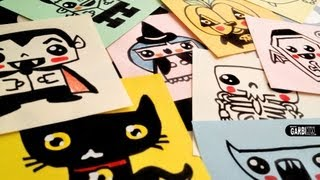 getlinkyoutube.com-How To Draw Cute Halloween Easy Drawings by Garbi KW