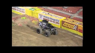 getlinkyoutube.com-Mohawk Warrior Consecutive Backflips - Monster Jam World Finals XIII
