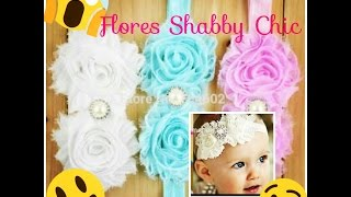 Flores shabbys hechas a mano