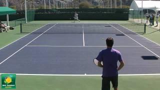 getlinkyoutube.com-Roger Federer Warming Up in HD -- Indian Wells Pt. 07