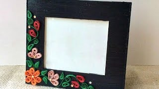 How To Create A Simple Quilled Photo Frame - DIY Crafts Tutorial - Guidecentral