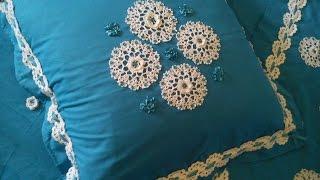 getlinkyoutube.com-مفارش سرير كروشي رائعة مع الباترن Beautiful crochet bed runner