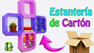 Estantería de cartón - Manualidades con cartón - Ecobrisa DIY