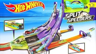 getlinkyoutube.com-Hot Wheels Split Speeders Blade Raid Track Playset Toy Cars for Children BTC Blu Toys Club