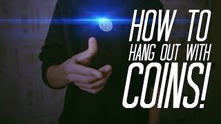 getlinkyoutube.com-Learn Coin Magic : HANG COINS IN MID-AIR! - Coin magic TUTORIAL