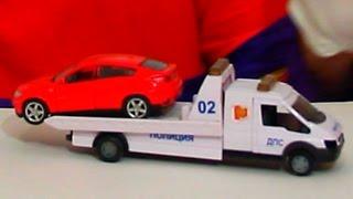 getlinkyoutube.com-Video divertenti per i bambini - Clown Dima con un carro attrezzi e una macchina