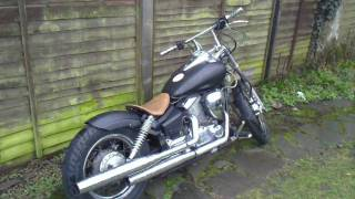 getlinkyoutube.com-XVS 125 BOBBER/CHOPPER FOR SALE
