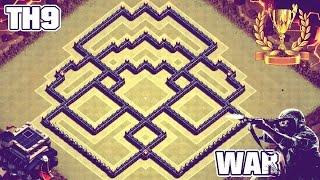 getlinkyoutube.com-Epic Town Hall 9 (TH9) Clan War/Trophy Base | Anti 3 Star - Clash of Clans