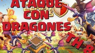 getlinkyoutube.com-¡¡¡CÓMO ATACAR CON DRAGONES AYUNTAMIENTO 8!!! - ESTRATEGIA EFECTIVA - 3 ESTRELLAS DRAGONES TH8