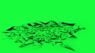 ground crack animation - green screen effect