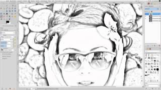 getlinkyoutube.com-Gimp 2.8 Tutorial - Foto zur Bleistiftzeichnung