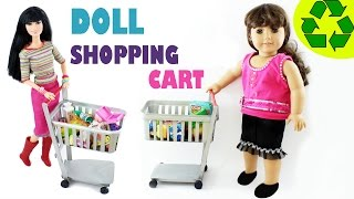 getlinkyoutube.com-How to make a FUNCTIONAL doll shopping cart - Easy Doll Crafts - simplekidscrafts