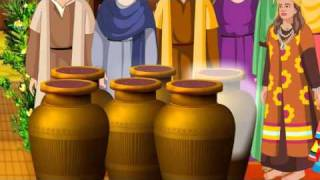 getlinkyoutube.com-Jesus Turns Water into Wine In The Wedding At Cana ( Bible Cartoon stories for kids in English )