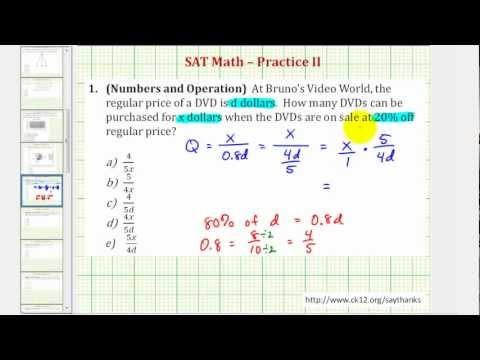 SAT Math (Number and Operations) - Practice 2.1